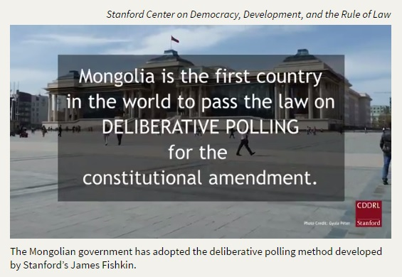 New Law Requiring Deliberative Poll Process for Constitutional
